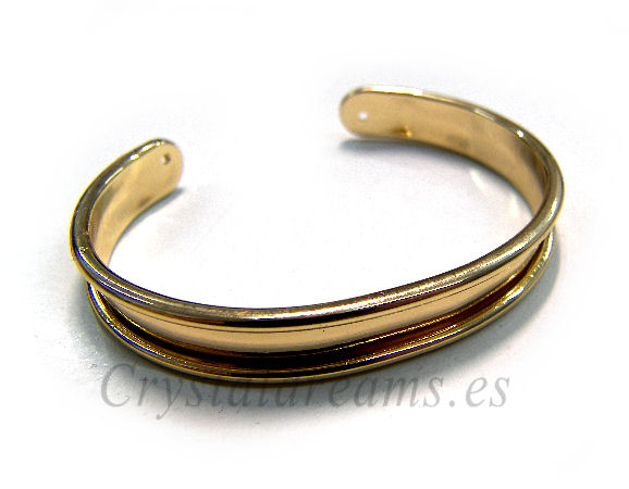 Pulsera Metal regulable 55-65mm - 9mm - Dorado ... e8e1fb12c6a