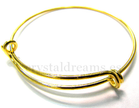 Pulsera Metal regulable 55-65mm - 1,5mm - Golden