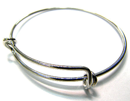 Pulsera Metal regulable 55-65mm - 1,5mm - Platinum