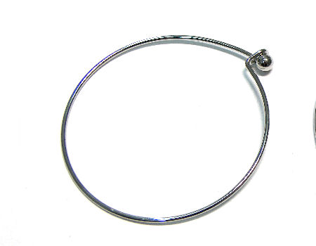 Pulsera Metal regulable 55-65mm - 1,5mm - con bolita - Platinum