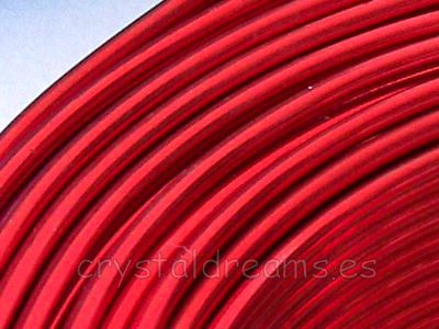 CABLE DE ALUMINIO - 1mm - RED x 1m