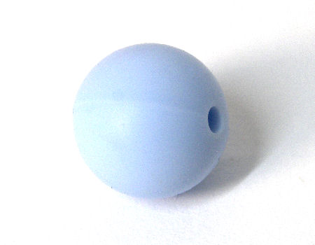 Bola de silicona de 15mm - Agujero: 1,7mm - Baby Blue
