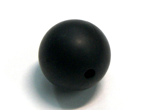 Bola de silicona da 19mm - Agujero: 1,7mm - Black