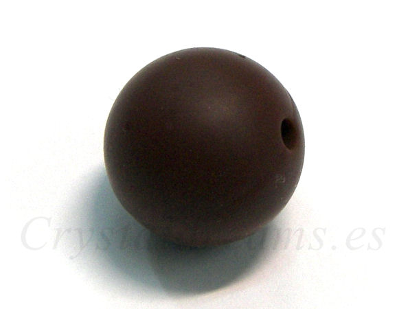 Bola de silicona de 9mm - Agujero: 1,7mm - Chocolate