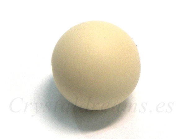 Silicone Beads - 15mm - Hole: 1,7mm - Creme