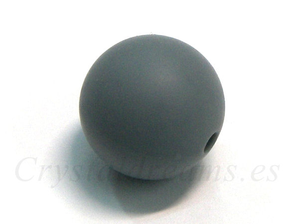 Bola de silicona de 15mm - Agujero: 1,7mm - Grey