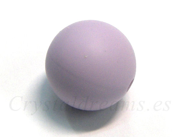 Silicone Beads - 15mm - Hole: 1,7mm - Lavender