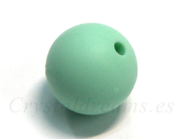 Bola de silicona da 19mm - Agujero: 1,7mm - Mint