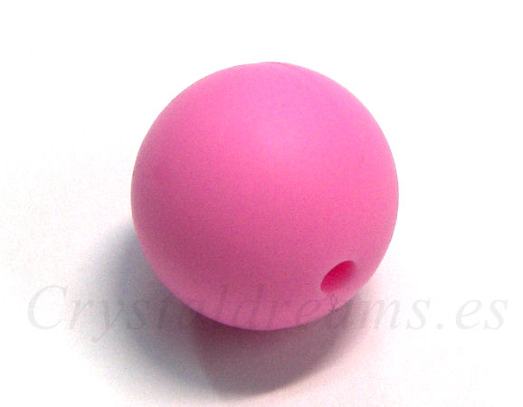Silicone Beads - 15mm - Hole: 1,7mm - Pink