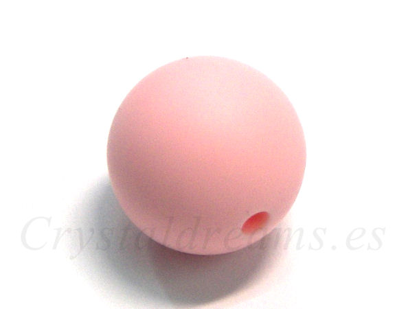 Bola de silicona de 15mm - Agujero: 1,7mm - Rose Quartz