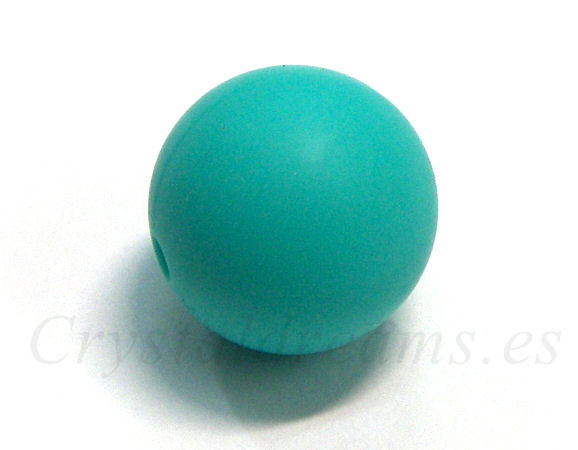 Silicone Beads - 15mm - Hole: 1,7mm - Turquoise