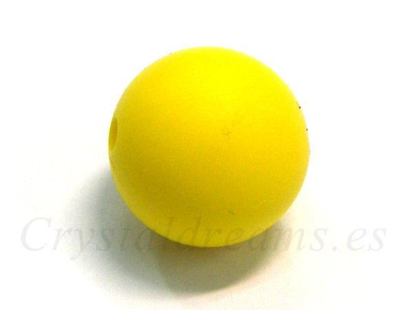 Bola de silicona da 19mm - Agujero: 1,7mm - Yellow