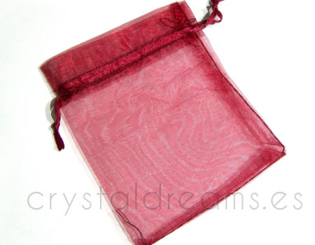 Bolsa de Organza 120x100mm Garnet color