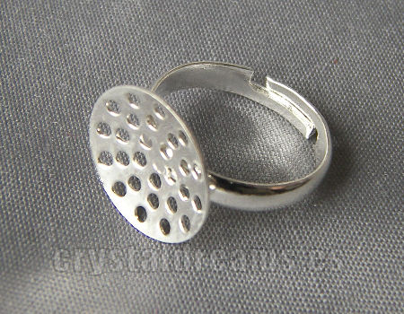 Anillo base perforada 14mm Tray - Silver Color