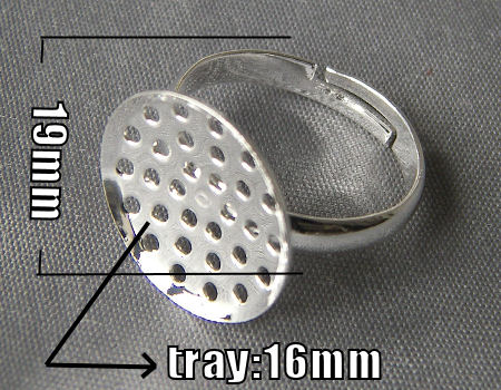 Anillo base perforada 16mm Tray - Silver Color