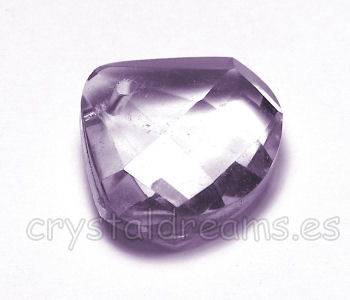 Gota de Resina - 20x18x8 color Light Amethyst Agujero: 1mm