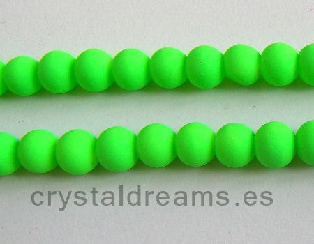 Cuentas fluo 8mm Agujero: 1mm - Fluor Green