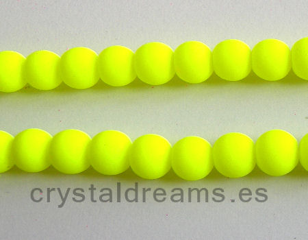 Cuentas fluo 8mm Agujero: 1mm - Fluor Yellow