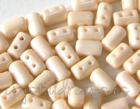 10 gr. Rulla 5x3mm - Opaque Beige Ceramic Look