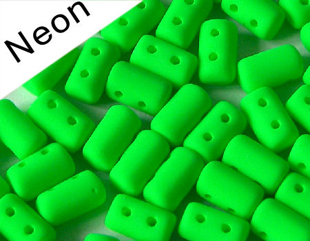 10 gr. Rulla 5x3mm - Neon Green
