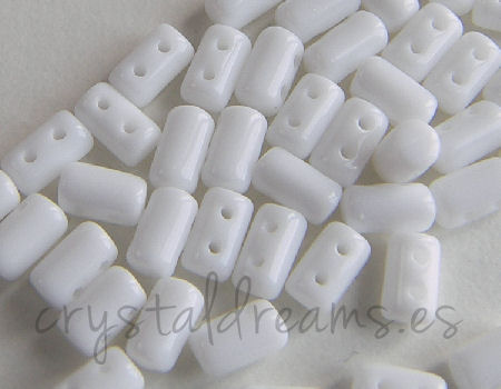 10 gr. Rulla 5x3mm - Opaque Chalk White