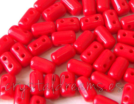 10 gr. Rulla 5x3mm - Opaque Coral Red
