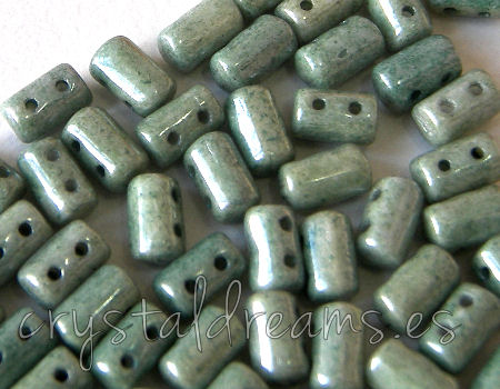 10 gr. Rulla 5x3mm - Opaque Green Ceramic Look