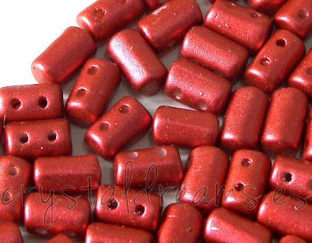 10 gr. Rulla 5x3mm - Red Metallic Mate