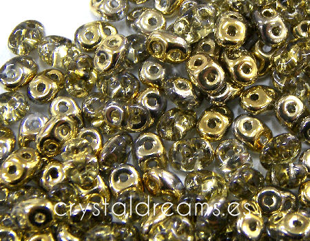 10 gr Superduo® 2,5x5mm Ag:0,8mm AMBER GOLD