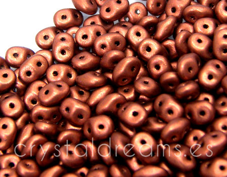 10 gr Superduo® 2,5x5mm Ag:0,8mm CRYSTAL BRONZE FIRE RED
