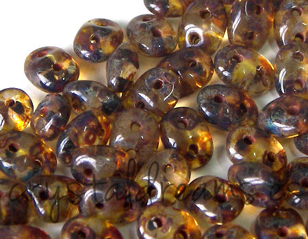 10 gr Superduo® 2,5x5mm Ag:0,8mm CRYSTAL TRAVERTIN