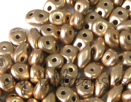 10 gr Superduo® 2,5x5mm Ag:0,8mm CRYSTAL BRONZE PALE GOLD