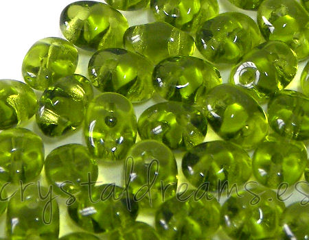 10 gramos Superduo® 2,5 x 5mm - Agujeros:0,8mm Color: OLIVINE