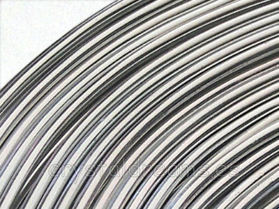CABLE DE ALUMINIO - 1mm - PLATEADO x 1m