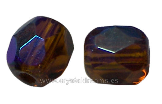 Facetadas 4mm SMOKED TOPAZ AB