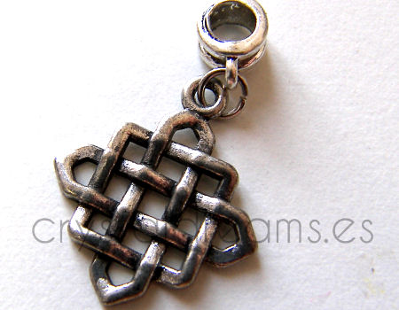 Colgante metal - Celtic Square - 36mm - Hole: 5mm