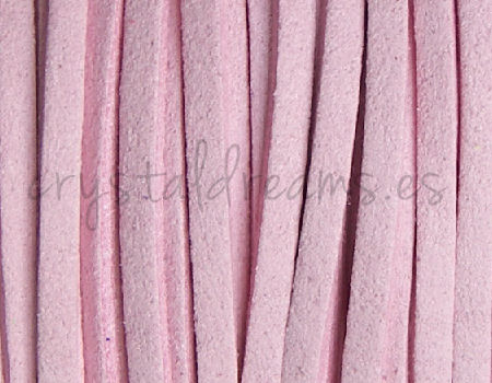 Cordon de Antelina 2,5mm color Pink x 1mt.