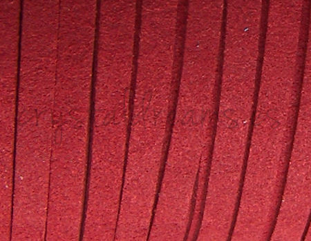 Cordon de Antelina 5mm color Dark Red x 1mt.
