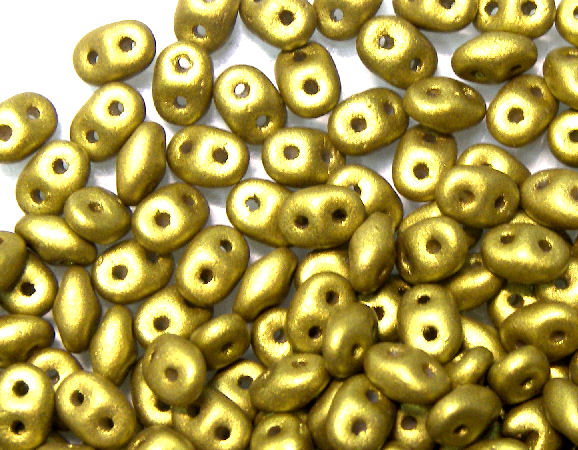 10 gr Superduo® 2,5x5mm Ag:0,8mm METAL AZTEC GOLD