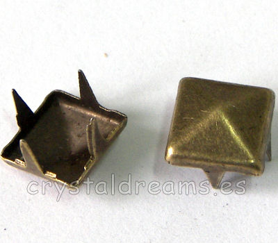 Tachuela 12x12x3mm Old Gold