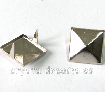 Tachuela 12x12x3mm Platinum
