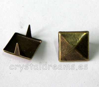 Tachuela 8x8x3mm Old Gold