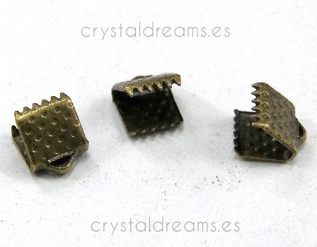 Terminales Color Bronze 6x6mm Agujero:1,3mm