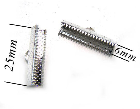 Terminales 25x6mm Agujero:2mm Silver