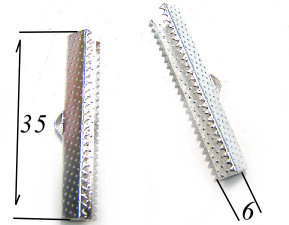 Terminales 35x6mm Agujero:2mm Silver