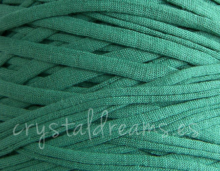 4mm Zpagetti cord - Turquoise Green x 1mt Trapillo