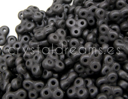 Trinity Beads 8x8mm - 5gr. - Matte Metallic Black