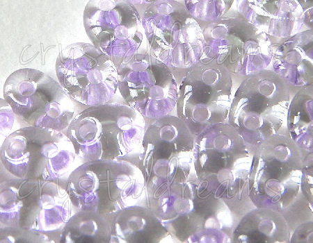 10gr.Twin Beads - 2,5x5mm - Crystal Lilac Lined