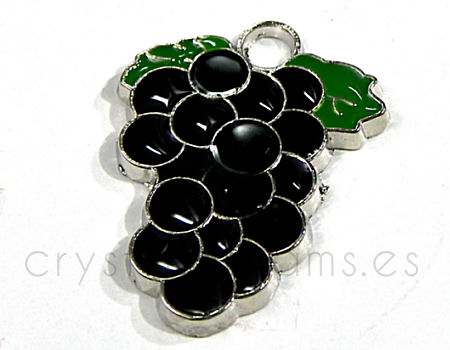Cuenta de metal - Bunch of Grapes - 14x28mm - Agujero: 1,2mm