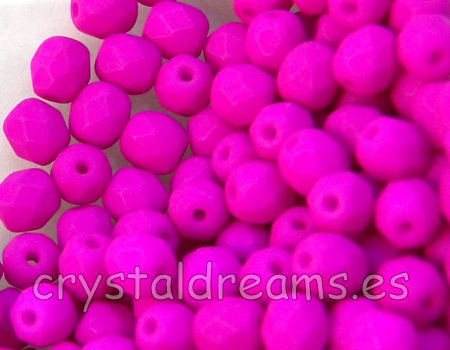 Facetadas 6mm VIOLET NEON MATE